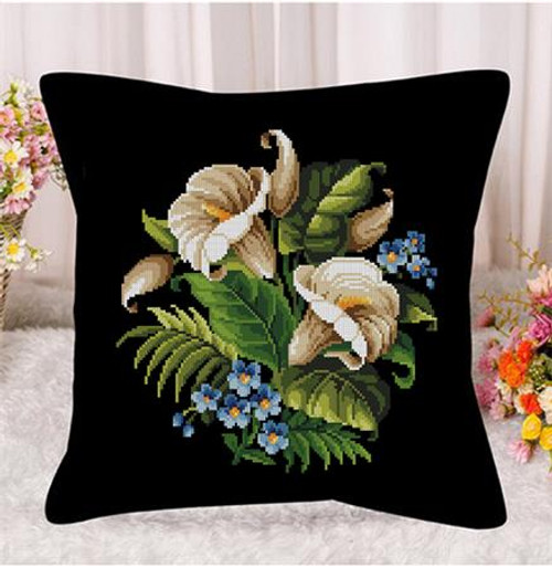 Lily Bouquet Counted Cross Stitch Pattern