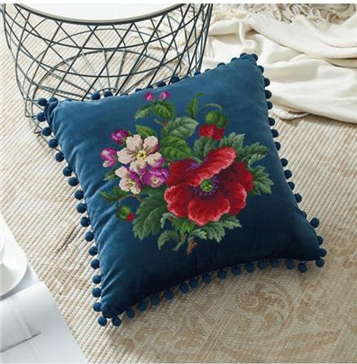 Antique Floral Bouquet Counted Cross Stitch Pattern