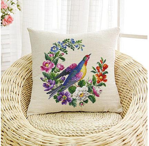 Berlin Floral Bird Counted Cross Stitch Pattern