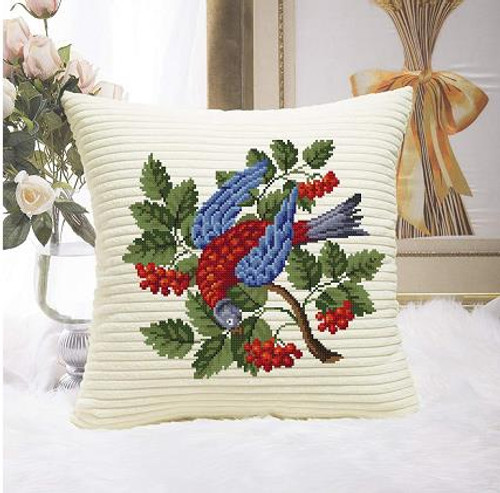 Berlin Floral Red Bird Counted Cross Stitch Pattern