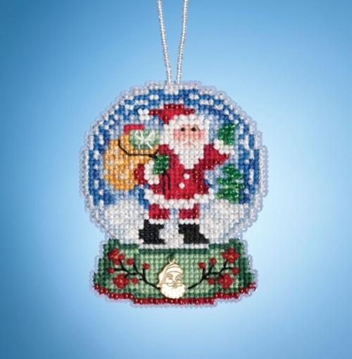 Santa Globe - Mill Hill Snow Globe Charmed Ornaments
