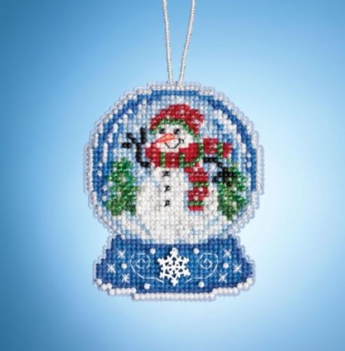 Snowman Globe - Mill Hill Snow Globe Charmed Ornaments