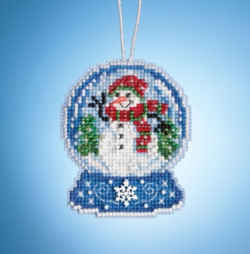 Snowman Globe - Mill Hill Snow Globe Charmed Ornaments