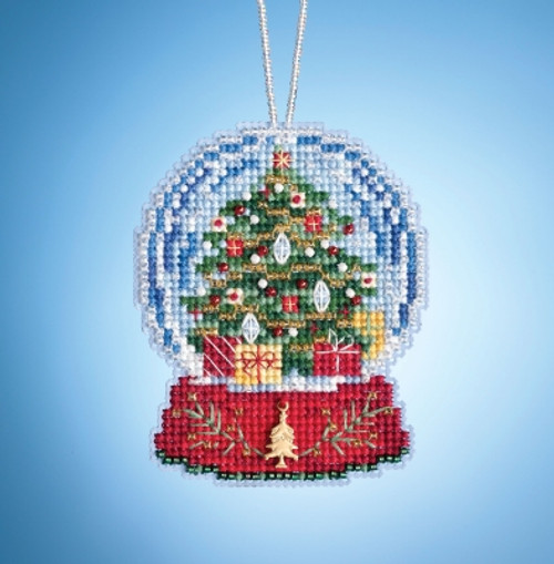 Christmas Tree Globe - Mill Hill Snow Globe Charmed Ornaments