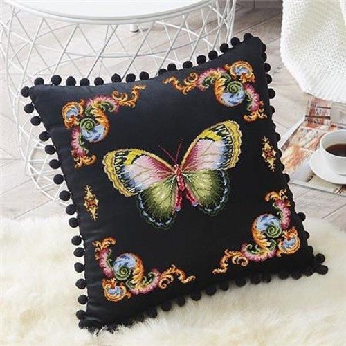 Antique 19th Century Butterfly Counted Cross Stitch Pattern