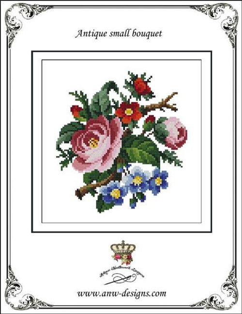 Antique Small Bouquet-Counted Cross Stitch Pattern