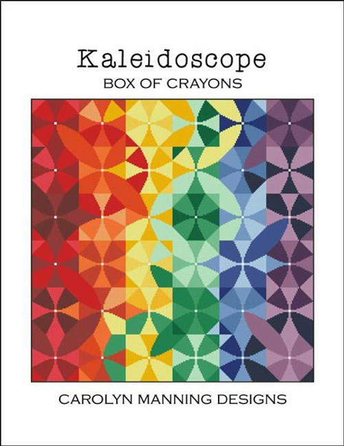 Kaleidoscope Box of Crayons -  Carolyn Manning Designs Counted Cross Stitch Pattern