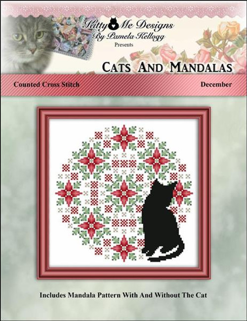 Cats and Mandalas December - Kitty & Me Designs Counted Cross Stitch Pattern