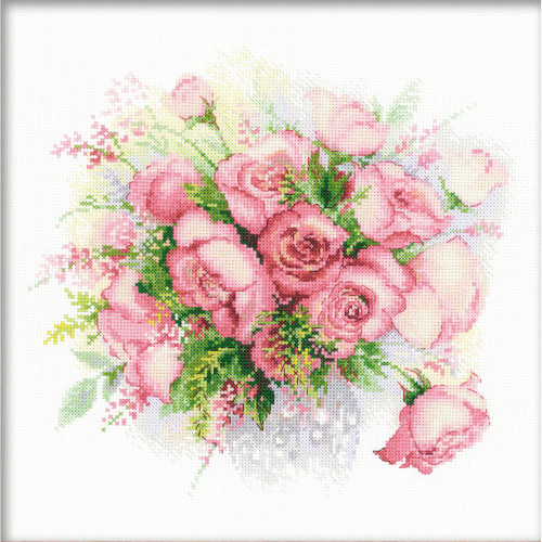 Watercolor Roses - Riolis Counted Cross Stitch Kit