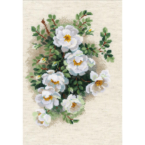 White Briar - Riolis Counted Cross Stitch Kit