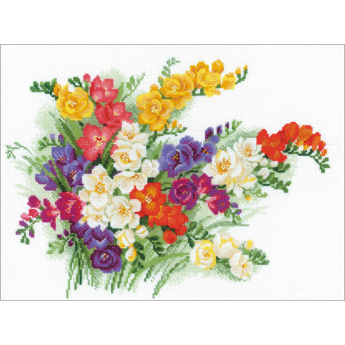 Freesia - Riolis Counted Cross Stitch Kit
