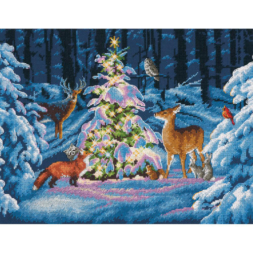 Woodland Glow Dimensions Counted Cross Stitch Kit