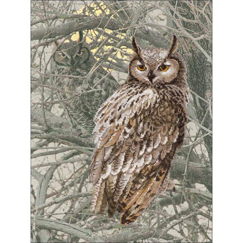 Eagle Owl - Riolis Counted Cross Stitch Kit