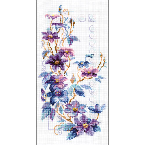 Clematis - Riolis Counted Cross Stitch Kit