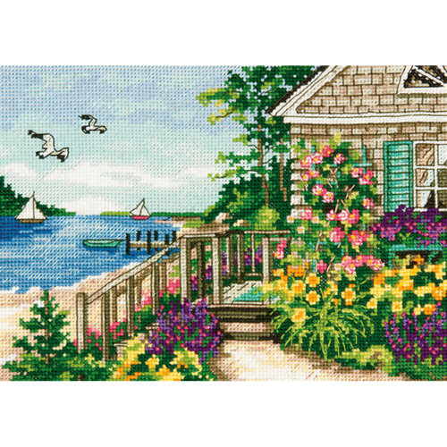 Bayside Cottage-Dimensions The Gold Collection Petites Counted Cross Stitch Kit
