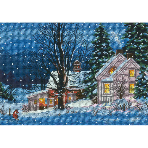 Quiet Night - Dimensions The Gold Collection Petites Counted Cross Stitch Kit