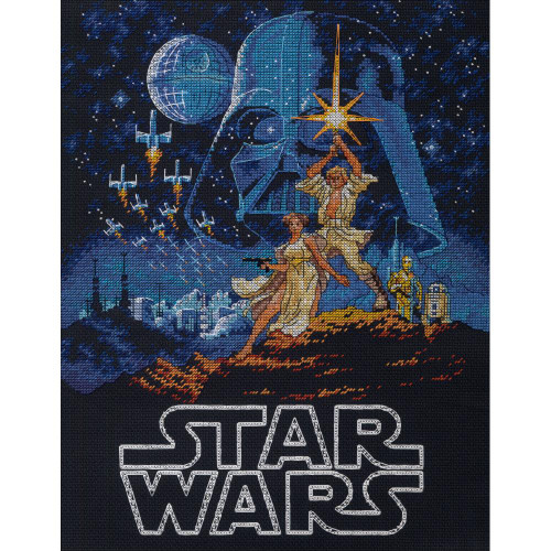 Star Wars ™ Luke & Princess Leia™  - Dimensions Counted Cross Stitch Kit