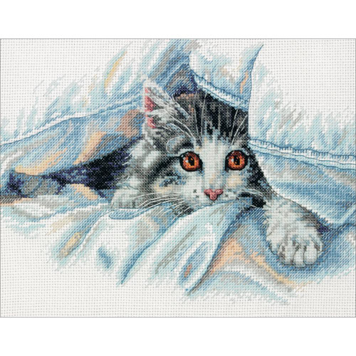 Cat Comfort - Dimensions Counted Cross Stitch Kit