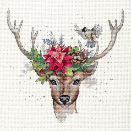 Woodland Deer - Dimensions Counted Cross Stitch Kit