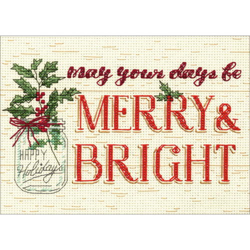 Merry & Bright - Dimensions Counted Cross Stitch Kit