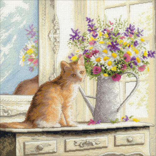 Kitten in the Window - Dimensions - The Gold Collection Counted Cross Stitch Kit