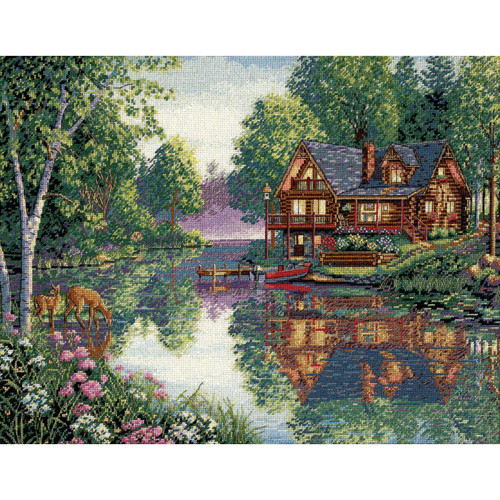 Cabin Fever - Dimensions - The Gold Collection Counted Cross Stitch Kit