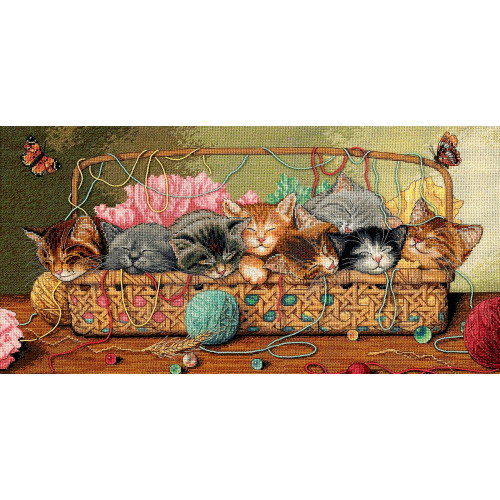 Kitty Litter - Dimensions - The Gold Collection Counted Cross Stitch Kit