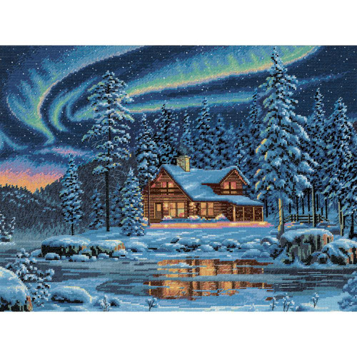 Aurora Cabin - Dimensions - The Gold Collection Counted Cross Stitch Kit