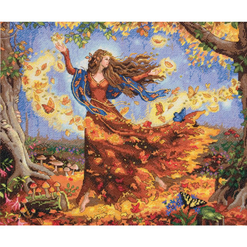 Fall Fairy - Dimensions - The Gold Collection Counted Cross Stitch Kit