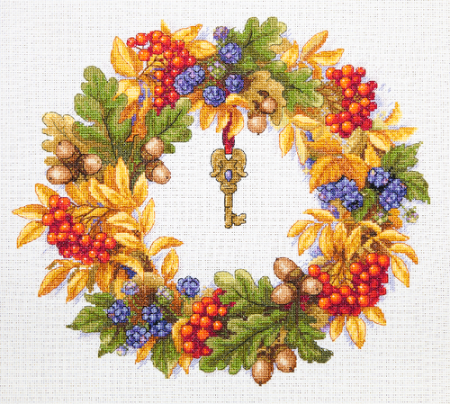 Autumn Wreath - Merejka Counted Cross Stitch Kit