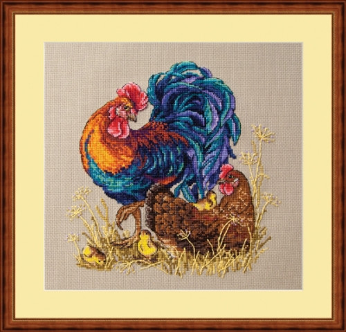 Rooster & Hen - Merejka Counted Cross Stitch Kit