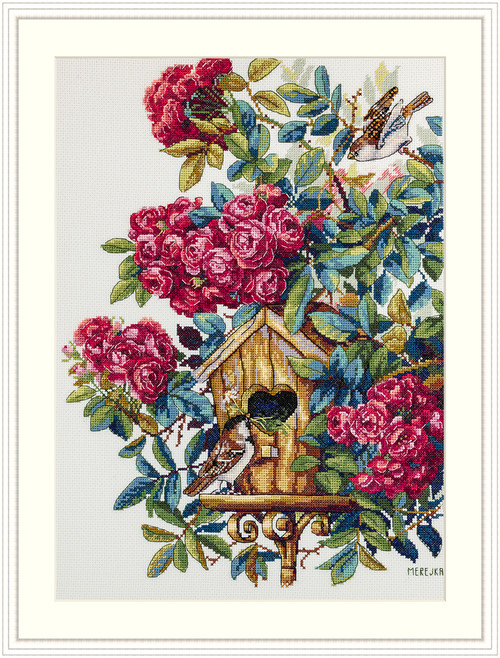 Rose Bush - Merejka Counted Cross Stitch Kit