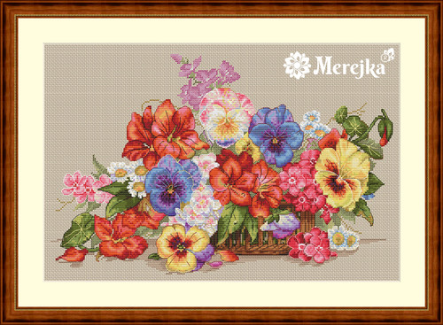 Garden Flowers - Merejka Counted Cross Stitch Kit