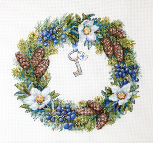 Winter Wreath - Merejka Counted Cross Stitch Kit