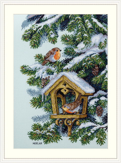 Robins - Merejka Counted Cross Stitch Kit