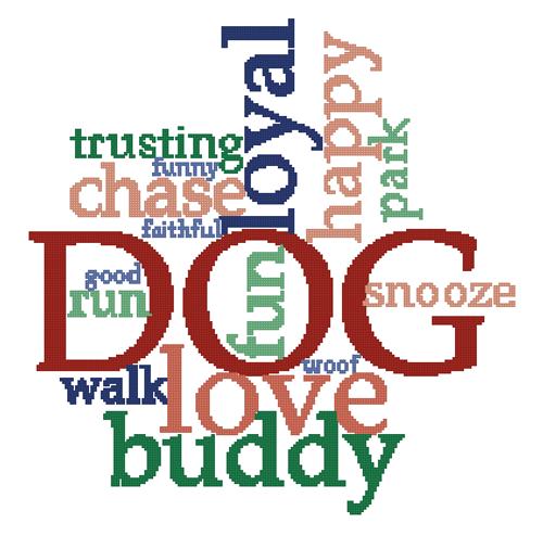 DOG Counted Cross Stitch Pattern - PDF Download