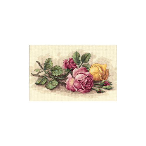 Rose Cuttings - Dimensions Counted Cross Stitch Kit
