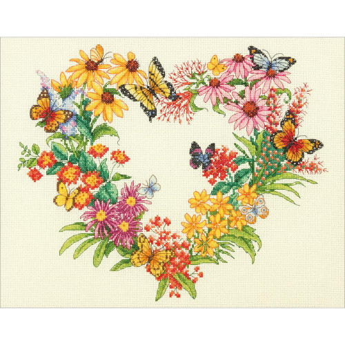 Wildflower Wreath - Dimensions Counted Cross Stitch Kit