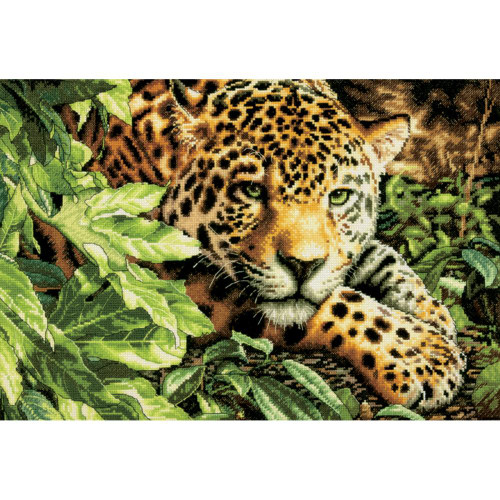 Leopard in Repose - Dimensions - The Gold Collection Counted Cross Stitch Kit