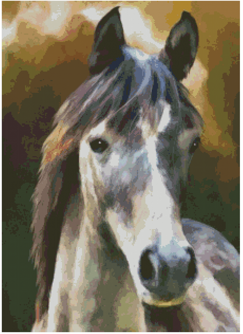 Horse Portrait Counted Cross Stitch Pattern - PDF Download