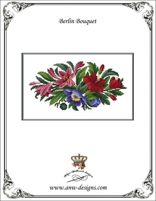 Berlin Bouquet Counted Cross Stitch Pattern Antique Needlework Designs