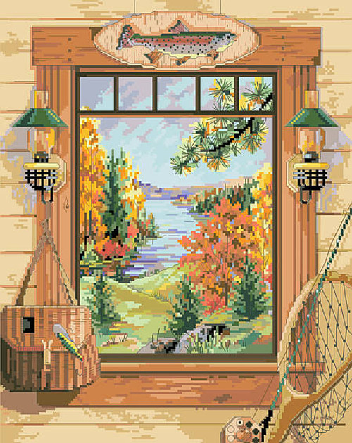 Sportsman's Dream Counted Cross Stitch Pattern