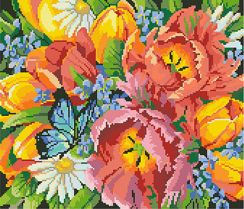 Spring Favorites Counted Cross Stitch Pattern