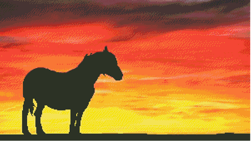 In the Sunset Counted Cross Stitch Pattern