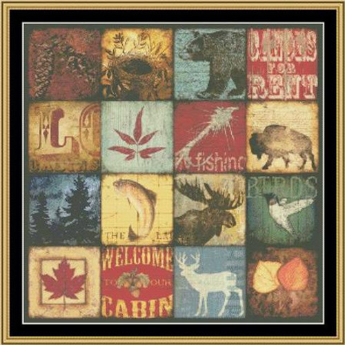Lodge Patches Mystic Stitch Counted Cross Stitch Pattern