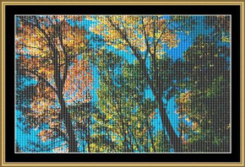 Blue Skies Mystic Stitch Counted Cross Stitch Pattern
