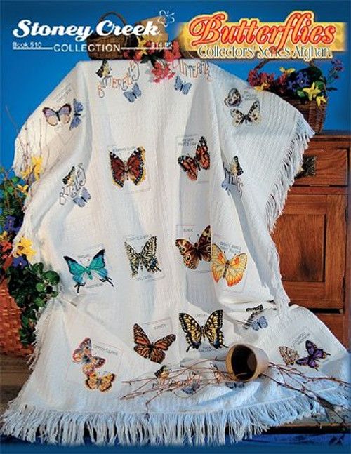 Butterflies Collector's Series Afghan Stoney Creek Counted Cross Stitch Pattern