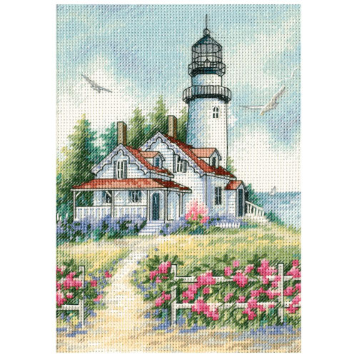 Scenic Lighthouse - Dimensions The Gold Collection Petites Counted Cross Stitch Kit