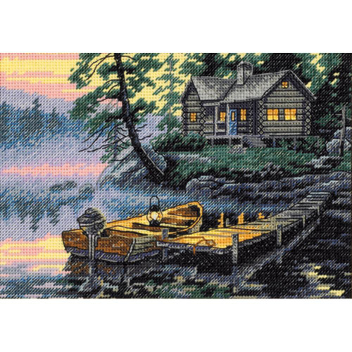 Morning Lake - Dimensions The Gold Collection Petites Counted Cross Stitch Kit