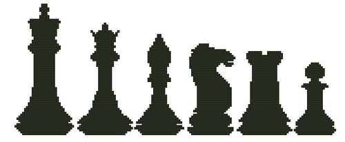 Chess Counted Cross Stitch Pattern - PDF Download